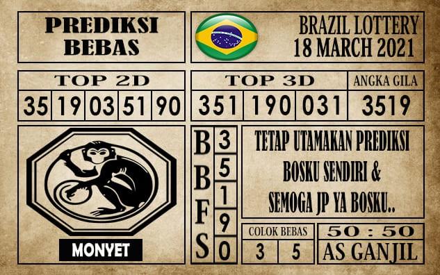 Prediksi Brazil Lottery Hari Ini 18 Maret 2021
