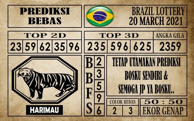 Prediksi Brazil Lottery Hari Ini 20 Maret 2021