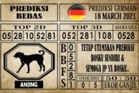 Prediksi Germany Hari Ini 18 Maret 2021