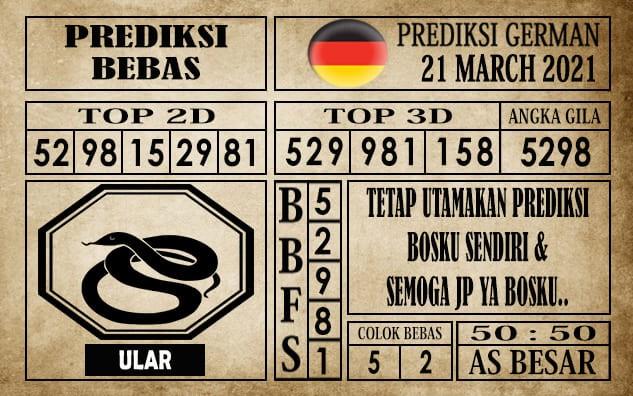 Prediksi Germany Hari Ini 21 Maret 2021