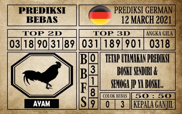 Prediksi Germany Hari Ini 12 Maret 2021