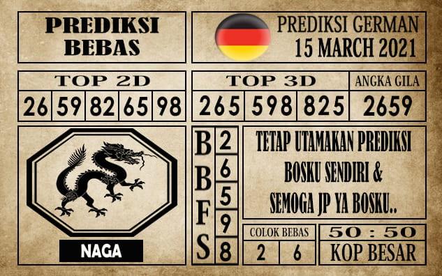 Prediksi Germany Hari Ini 15 Maret 2021