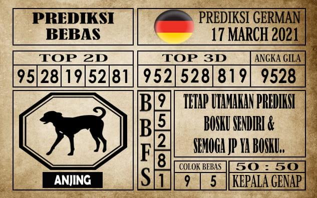 Prediksi Germany Hari Ini 17 Maret 2021