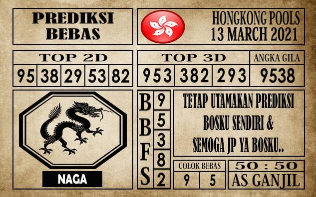 Prediksi Hongkong Pools Hari Ini 13 Maret 2021