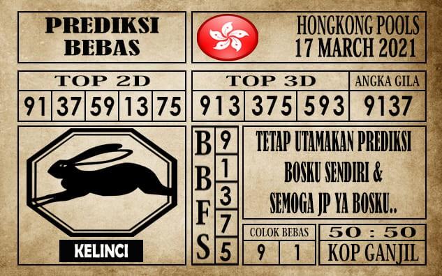 Prediksi Hongkong Pools Hari Ini 17 Maret 2021