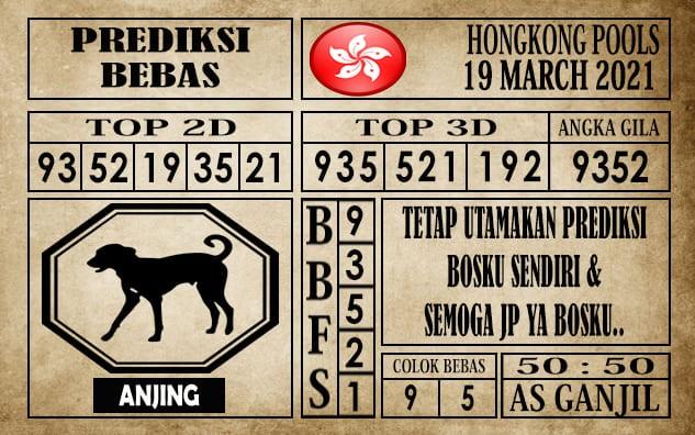 Prediksi Hongkong Pools Hari Ini 19 Maret 2021