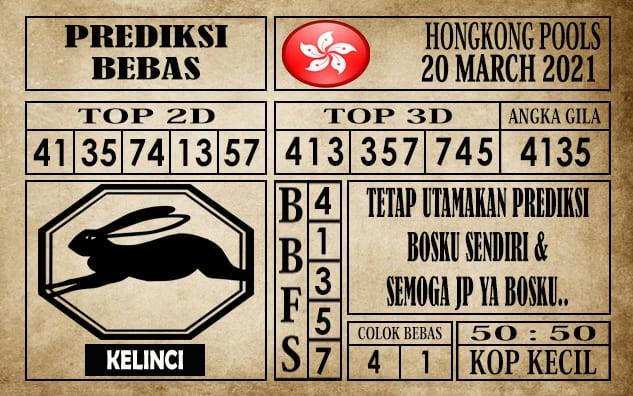 Prediksi Hongkong Pools Hari Ini 20 Maret 2021