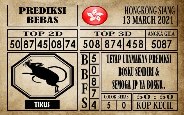 Prediksi Hongkong Siang Hari Ini 13 Maret 2021