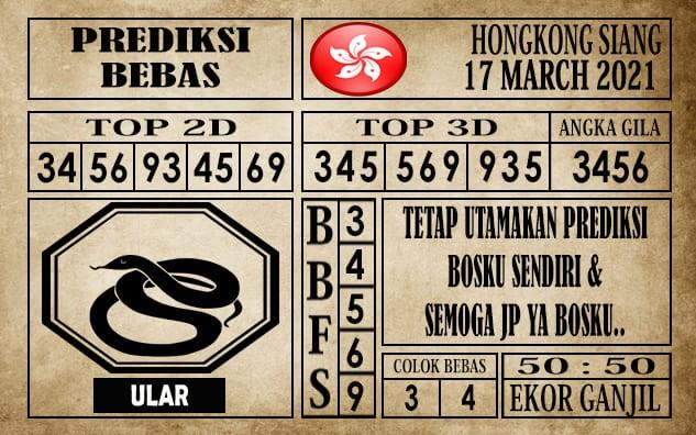 Prediksi Hongkong Siang Hari Ini 17 Maret 2021