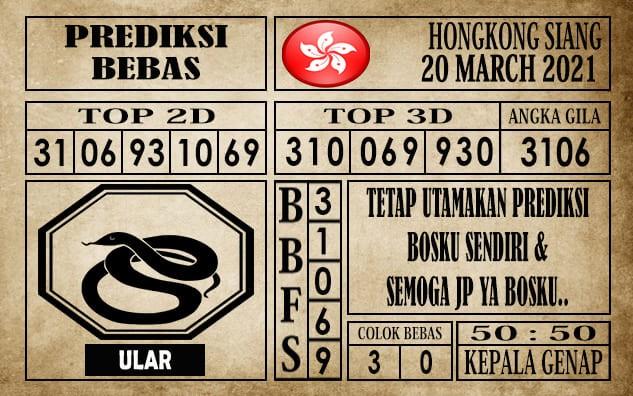 Prediksi Hongkong Siang Hari Ini 20 Maret 2021