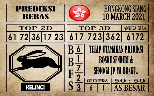 Prediksi Hongkong Siang Hari Ini 10 Maret 2021