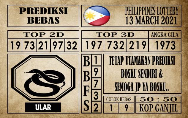 Prediksi Filipina PCSO Hari Ini 13 Maret 2021