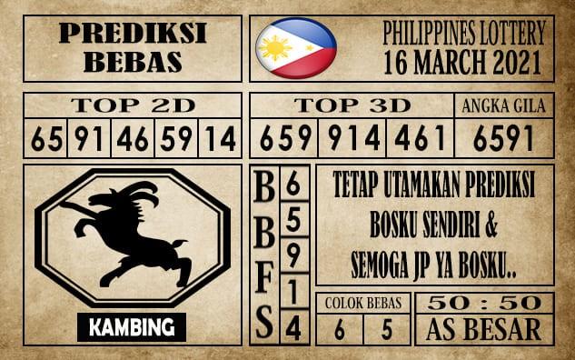 Prediksi Filipina PCSO Hari Ini 16 Maret 2021