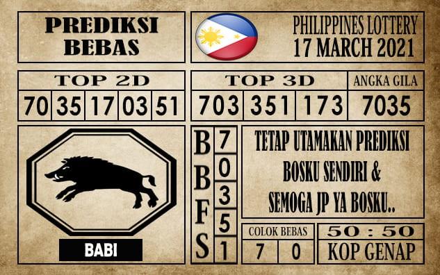 Prediksi Filipina PCSO Hari Ini 17 Maret 2021
