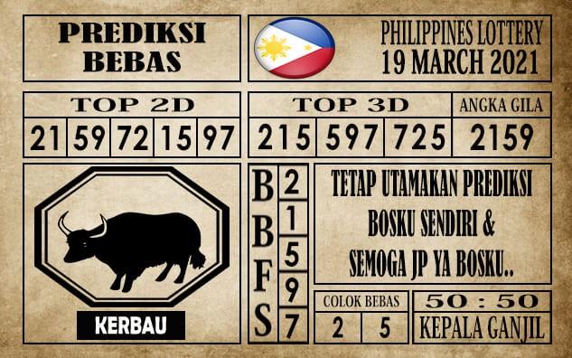 Prediksi Filipina PCSO Hari Ini 19 Maret 2021