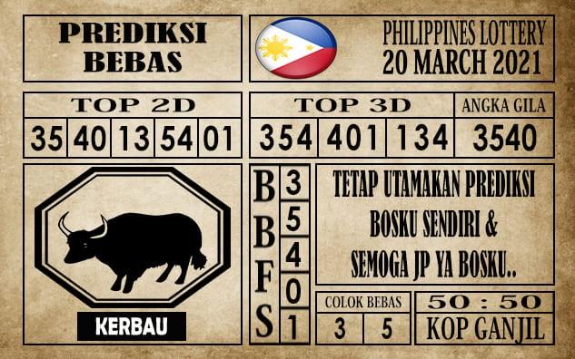 Prediksi Filipina PCSO Hari Ini 20 Maret 2021