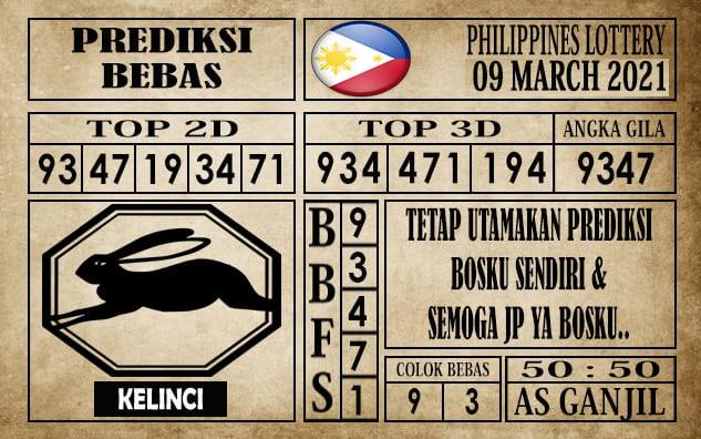 Prediksi Filipina PCSO Hari Ini 09 Maret 2021