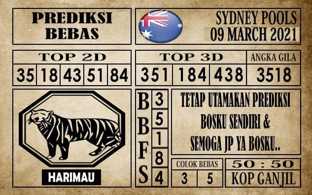 Prediksi Sydney Pools Hari Ini 09 Maret 2021