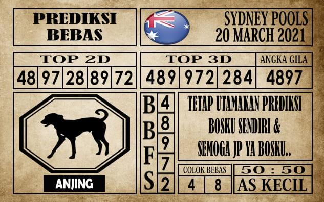 Prediksi Sydney Pools Hari Ini 20 Maret 2021