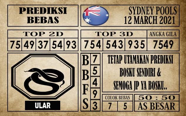 Prediksi Sydney Pools Hari Ini 12 Maret 2021