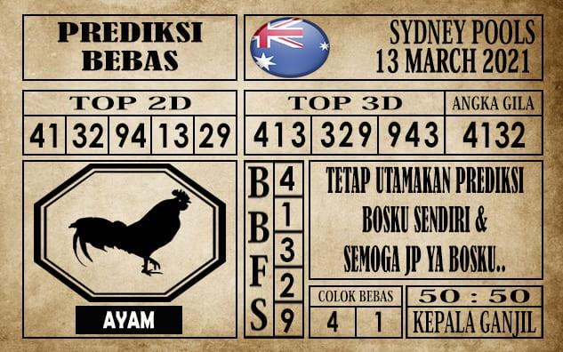 Prediksi Sydney Pools Hari Ini 13 Maret 2021