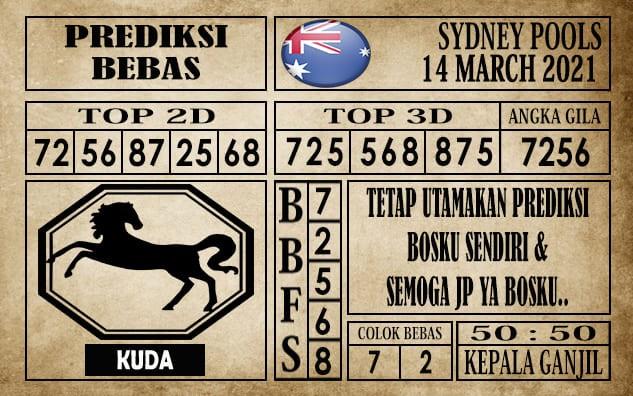 Prediksi Sydney Pools Hari Ini 14 Maret 2021
