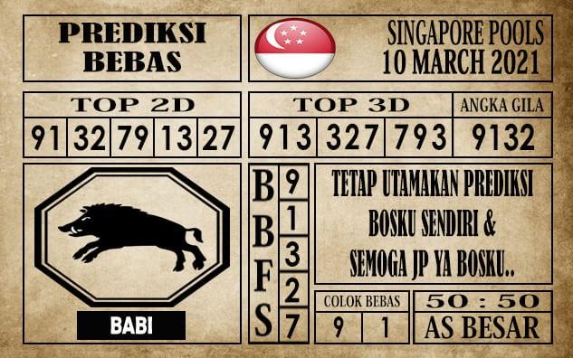 Prediksi Singapore Pools Hari ini 10 Maret 2021