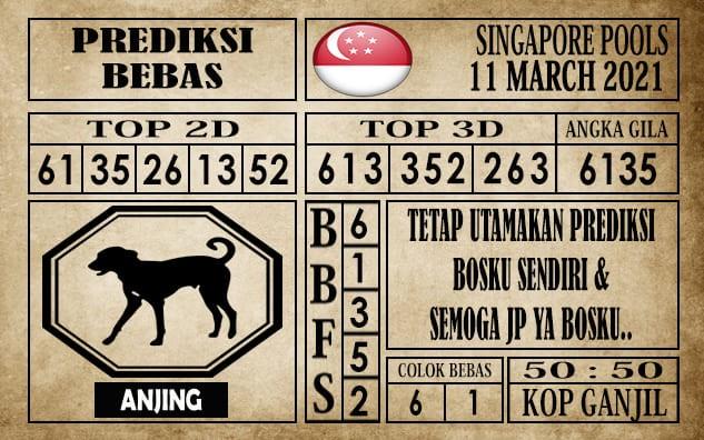 Prediksi Singapore Pools Hari ini 11 Maret 2021