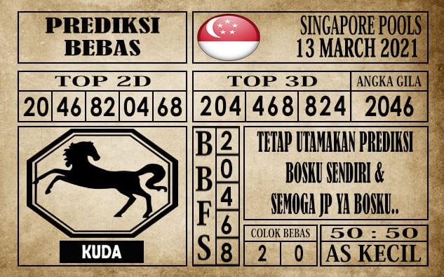 Prediksi Singapore Pools Hari ini 13 Maret 2021