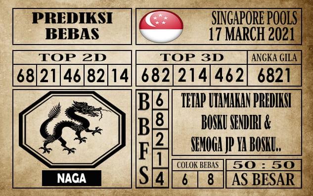 Prediksi Singapore Pools Hari ini 17 Maret 2021