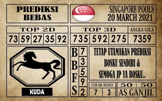 Prediksi Singapore Pools Hari ini 20 Maret 2021