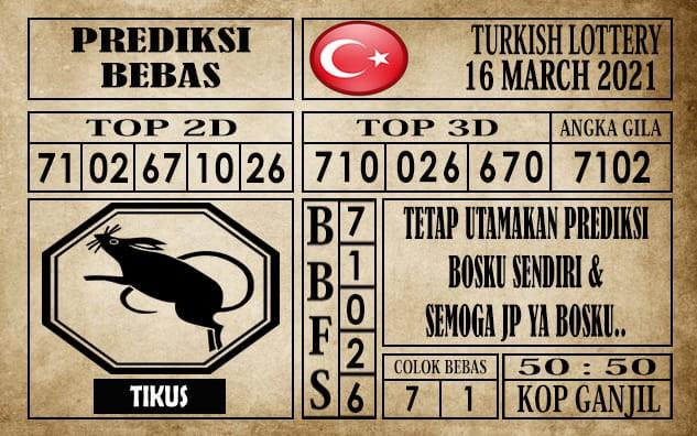 Prediksi Turkish Lottery Hari Ini 16 Maret 2021