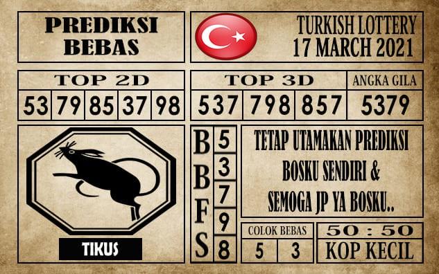 Prediksi Turkish Lottery Hari Ini 17 Maret 2021
