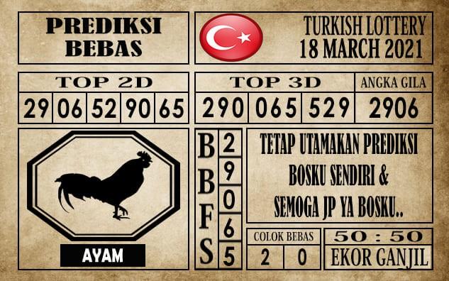 Prediksi Turkish Lottery Hari Ini 18 Maret 2021