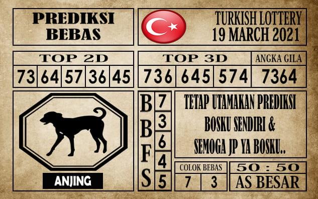 Prediksi Turkish Lottery Hari Ini 19 Maret 2021