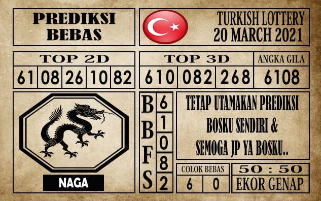 Prediksi Turkish Lottery Hari Ini 20 Maret 2021