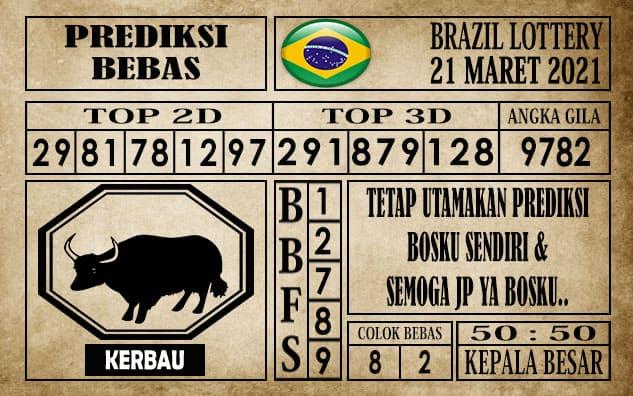 Prediksi Brazil Lottery Hari Ini 21 Maret 2021