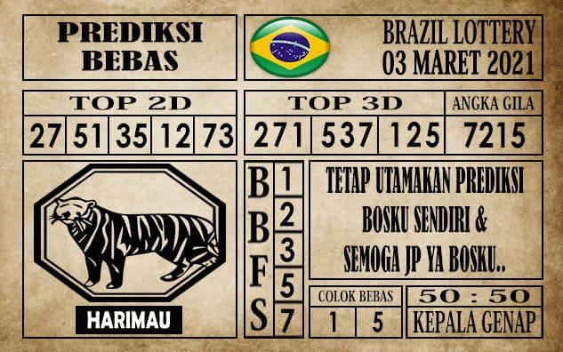 Prediksi Brazil Lottery Hari Ini 03 Maret 2021