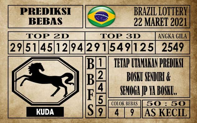 Prediksi Brazil Lottery Hari Ini 22 Maret 2021