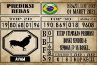 Prediksi Brazil Lottery Hari Ini 01 Maret 2021