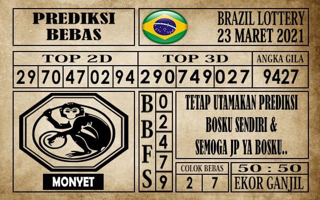 Prediksi Brazil Lottery Hari Ini 23 Maret 2021