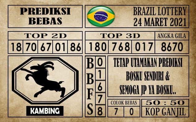 Prediksi Brazil Lottery Hari Ini 24 Maret 2021