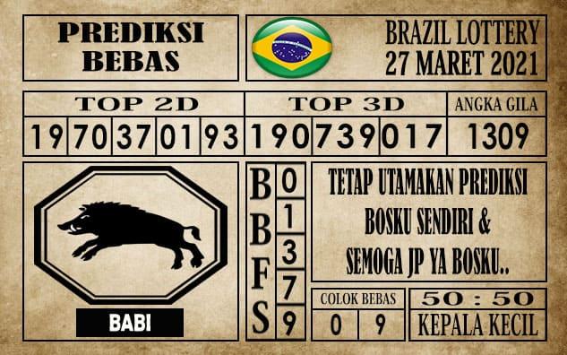 Prediksi Brazil Lottery Hari Ini 27 Maret 2021