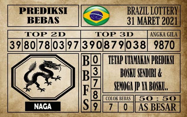Prediksi Brazil Lottery Hari Ini 31 Maret 2021