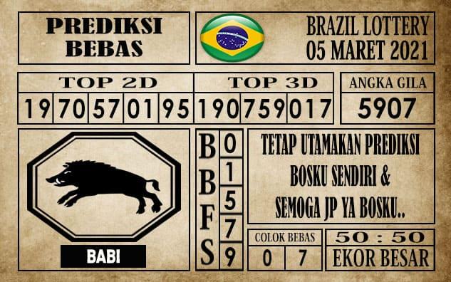 Prediksi Brazil Lottery Hari Ini 05 Maret 2021