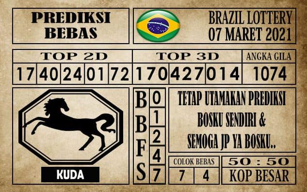 Prediksi Brazil Lottery Hari Ini 07 Maret 2021
