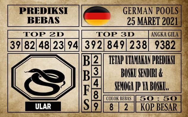 Prediksi Germany Hari Ini 25 Maret 2021