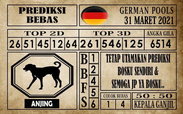 Prediksi Germany Hari Ini 31 Maret 2021