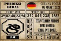 Prediksi Germany Hari Ini 03 Maret 2021