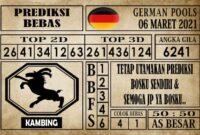 Prediksi Germany Hari Ini 06 Maret 2021